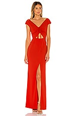 Lovers + Friends Camila Gown in Flame Scarlet