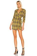 Lovers + Friends Bobbie Mini Dress in Yellow Plaid