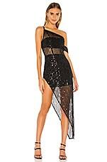 Lovers + Friends Nina Sequin Gown in Black