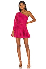 Lovers + Friends Isadora Mini Dress in Magenta