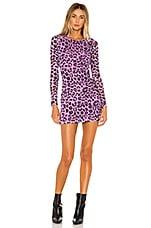Lovers + Friends Sasha Mini Dress in Purple Leopard
