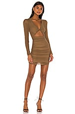 Lovers + Friends Celest Mini Dress in Taupe Brown