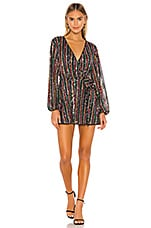 Lovers + Friends Laurie Sequin Dress in Rainbow