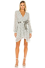 Lovers + Friends Olivia Embellished Dress in Gray & Silver