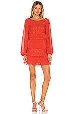 Lovers + Friends Tao Mini Dress in Red Orange