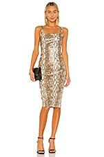 Lovers + Friends Easton Midi Dress in Snake Skin