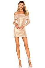 Lovers + Friends Julieta Mini Dress in Tan Metallic