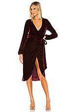 Lovers + Friends Adrianne Midi Dress in Wine Red