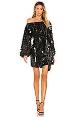 Lovers + Friends Micah Mini Dress in Disco Black