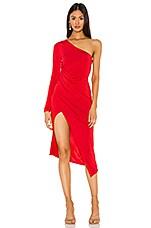 Lovers + Friends Austin Midi Dress in Tango Red