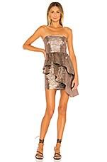 Lovers + Friends Albright Mini Dress in Striped Metallic