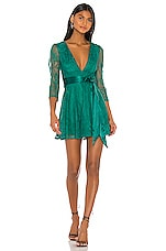 Lovers + Friends Cheryl Mini Dress in Emerald Green