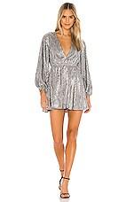 Lovers + Friends Huron Mini Dress in Dark Silver