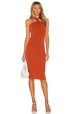 Lovers + Friends Oritz Midi Dress in Burnt Orange