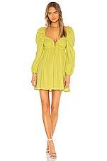 Lovers + Friends Sawtelle Mini Dress in Light Lime