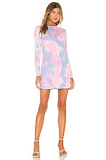 Lovers + Friends Romi Mini Dress in Pastel Tie Dye