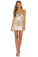 Lovers + Friends The Karine Mini Dress in Pale Gold