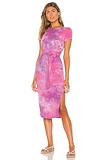 Lovers + Friends Brooklyn Midi Dress in Pink Tie Dye