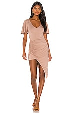 Lovers + Friends Maia Midi Dress in Taupe