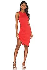 Lovers + Friends Eva Midi Dress in Red Orange