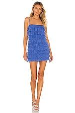 Lovers + Friends Jane Mini Dress in Delphine Blue