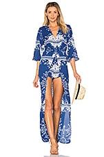 Lovers + Friends Ashton Dress in Blue Temple Scarf