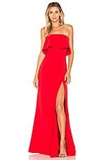 Lovers + Friends Anzen Gown in Deep Red