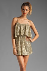 Lovers + Friends Sunkissed Dress in Gold Sequin