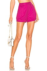 Lovers + Friends Polly Short in Magenta