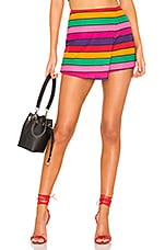 Lovers + Friends Stargazer Skort in Miami Lights Stripe