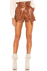 Lovers + Friends Tia Short in Chestnut Brown