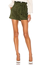 Lovers + Friends Tia Short in Olive Green