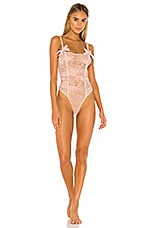 Lovers + Friends Adore Bodysuit in Ballet Pink