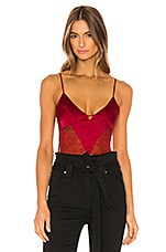 Lovers + Friends Ginger Bodysuit in Cabernet