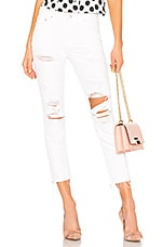 Lovers + Friends Logan High-Rise Tapered Jean in Bel Air