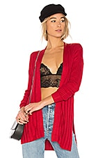 Lovers + Friends Columbia Cardigan in Red