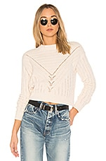 Lovers + Friends Moon Crop Sweater in Ivory