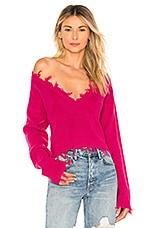 Lovers + Friends Prospect Sweater in Fuchsia