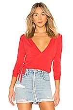 Lovers + Friends Wrap It Sweater in Coral