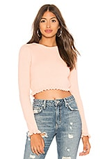 Lovers + Friends Irene Crop Sweater in Light Pink