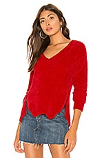 Lovers + Friends Leslie Sweater in Red
