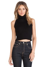 North Star Crop Sweater in Black