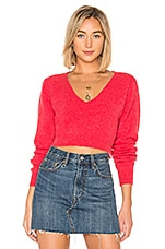 Lovers + Friends Highland Sweater in Coral Red