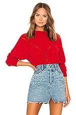 Lovers + Friends Moon Crop Sweater in Red