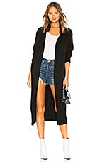 Lovers + Friends Cardigan With Banded Hem in Black