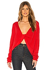 Lovers + Friends Spring Sweater in Bright Red