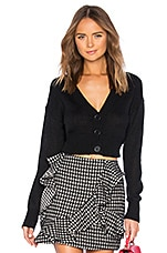 Lovers + Friends Wylie Crop Cardi in Black
