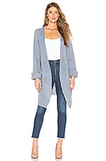 Lovers + Friends Ribbed Cardigan in Dusty Blue