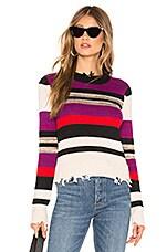 Lovers + Friends Wren Sweater in Purple Stripe