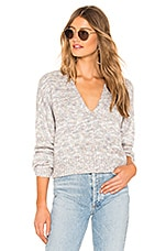 Lovers + Friends Bennet V Neck Sweater in Pastel Marble